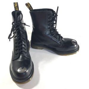 Dr. Marten Black Boots Maine Steam Punk steel toe